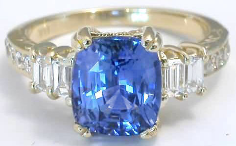 Sri Lankan Sapphire Engagement Ring Set- Ceylon