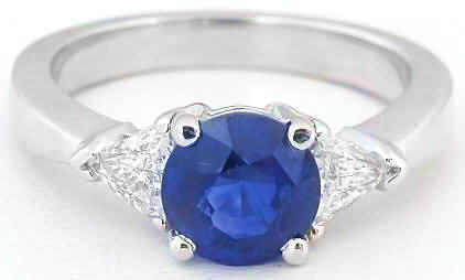 Diamond and Blue Sapphire Rings
