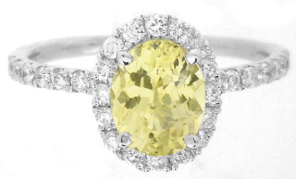 Diamond and Yellow Sapphire Rings