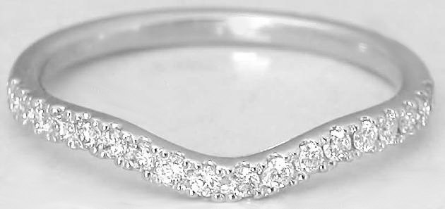 0.24 ctw Diamond Band in 14k white gold