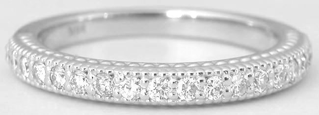 0.32 ctw Straight Diamond Band in 14k white gold