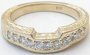 0.35 ctw Diamond Band in 14k yellow gold for ring SSR-5697
