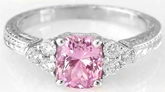 Cushion Pink Sapphire Ring