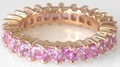 Pink Sapphire Eternity Band Ring