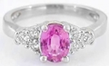 Pink Sapphire and Diamond Rings