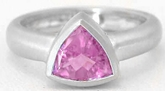 Trillion Pink Sapphire Ring