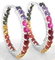 Bright Rainbow Sapphire Earrings
