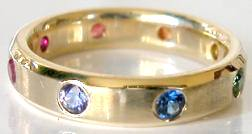 Burnished Rainbow Sapphire Ring