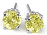 Yellow Sapphire Earrings in white gold