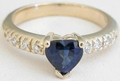 Heart Sapphire Ring Gold
