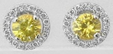 Yellow Sapphire Diamond Earrings