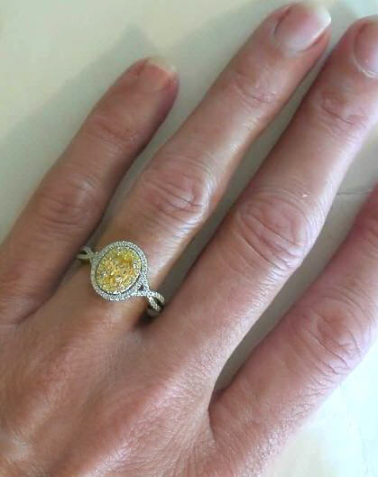 Yellow Gemstone Engagement Ring