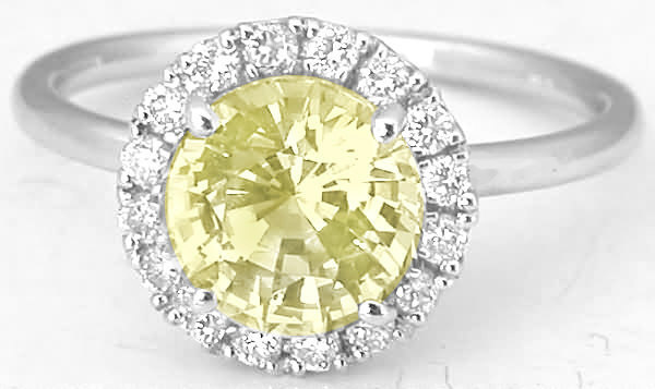 Genuine Radiant Cut Yellow Sapphire Rings
