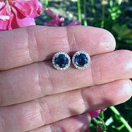Real Natural Blue Sapphire Rings for sale