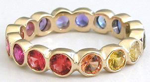 Real Natural Rainbow Sapphire Rings
