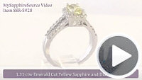 Emerald Cut Yellow Sapphire Ring Video