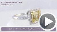 ShapeSAPPHIRE Yellow Sapphire Ring Video
