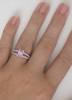 gold rings stone kirk in style kara pink bridal white sapphire engagement charlotte products grande three ring diamond r set