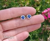 1.45 ctw Sapphire and Diamond Earrings in 14k white gold - SSE-5067