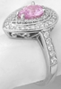 Natural Pastel Pink Sapphire and Diamond Halo Engagement Ring in 14k white gold