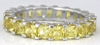 4.3 ctw Princess Cut Yellow Sapphire Eternity Band Ring in 14k white gold
