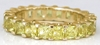 4.3 ctw Princess Cut Yellow Sapphire Eternity Band Ring in 14k yellow gold