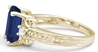 3 35 ctw Emerald Cut Sapphire and Diamond Ring in 14k yellow gold