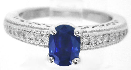 Sapphire Ornate Ring