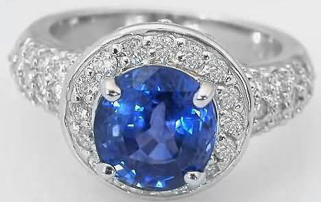 Bright Blue Sapphire Ring