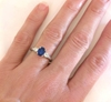 Three stone Blue and White Sapphire Ring