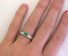 Genuine Solitaire Emerald Ring in White Gold - Semi Bezel Set