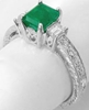 Natural Emerald and Baguette Diamond Ring