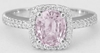 Unheated Light Pink Sapphire Ring - White Gold