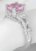 Natural Unheated Light Round Pink Sapphire Ring