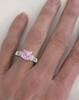 Light Round Pink Sapphire Ring - Natural Unheated