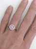 Hand View of Natural Pink Sapphire Diamond Ring