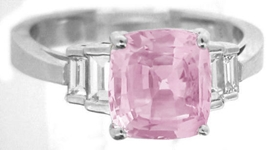 Untreated Unheated Pink Ring- GIA Tested