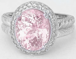 Unheated Natural Pink Sapphire Rings