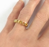 Princess Orange and Yellow Sapphire Band Ring in 14k yellow gold