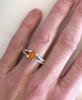 1.69 ctw Orange Sapphire and Diamond Ring with 0.20 ctw Matching Diamond Band in 14k white gold - SSR-5946