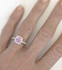 2.07 ctw Radiant Cut Light Pink Sapphire and Diamond Ring in 14k white gold - SSR-5767
