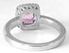 Genuine Radiant Pink Sapphire Ring with Diamond Halo - looks like a pink diamond