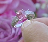 3.13 ctw Ceylon Pink Sapphire and Diamond Ring  - SSR-5329