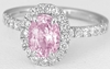 Light Pink Sapphire Ring in 14k white gold
