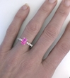 2.24 ctw Oval Pink Sapphire and Diamond Ring in 14k white gold  - SPR-110