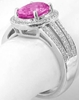 Low Profile Pink Sapphire Rings