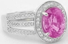 Fine Quality Pink Sapphire Ring in White Gold