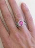 Bright Pink Sapphire and Diamond Rings