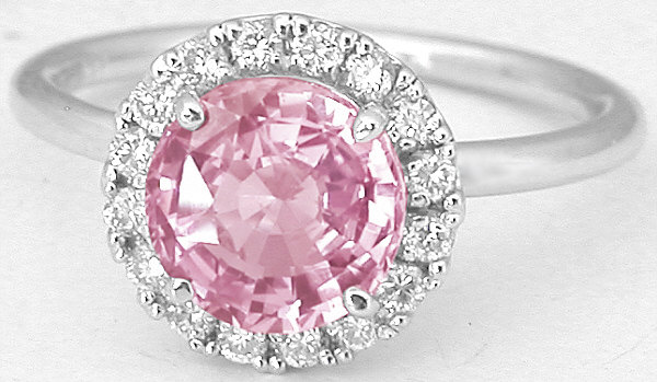 Pink Shire Diamond Halo Ring