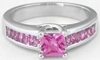 All Princess Pink Sapphire Ring